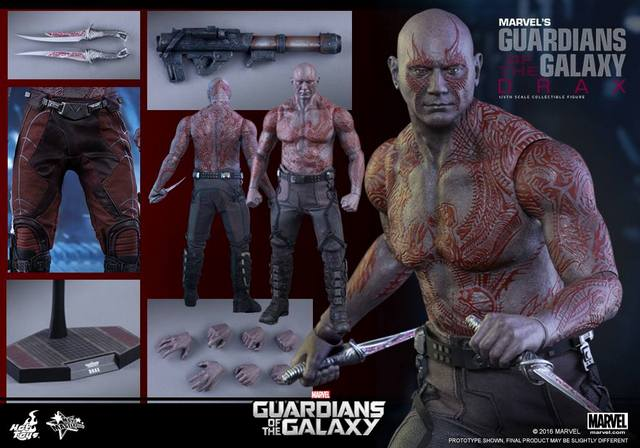 Hot Toys Guardian of the Galaxy Drax figure - collage