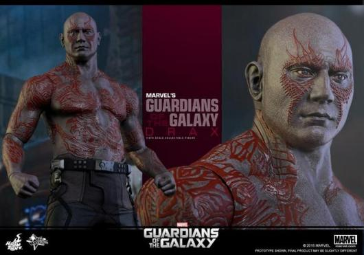 Hot Toys Guardian of the Galaxy Drax figure -head close up