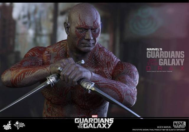Hot Toys Guardian of the Galaxy Drax figure -up close
