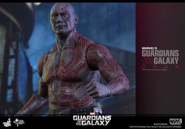 Hot Toys Guardian of the Galaxy Drax figure -upper half