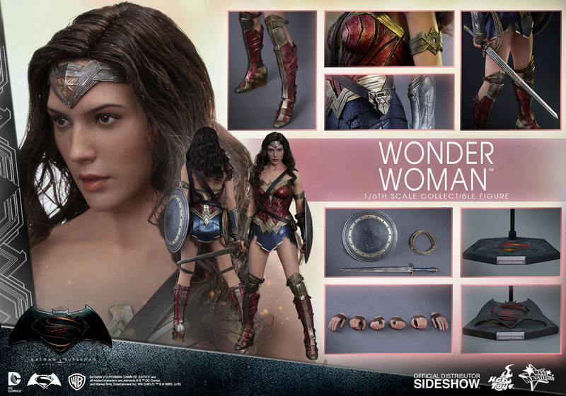 Hot Toys Wonder Woman figure - collage