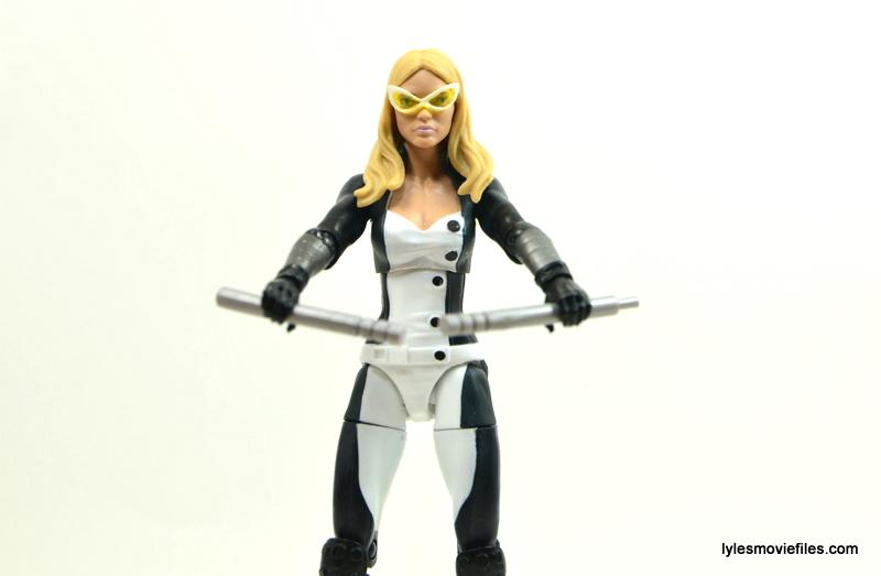 Marvel Legends Mockingbird figure review - batons out