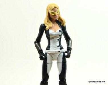Marvel Legends Mockingbird figure review - hands on side