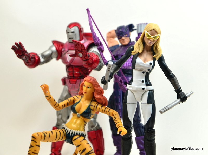 Marvel Legends Mockingbird figure review - with Tigra, Iron Man and Hawkeye