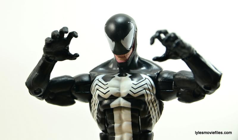 Marvel Legends Venom figure review - striking pose