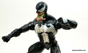 Marvel Legends Venom figure review - tongue left side