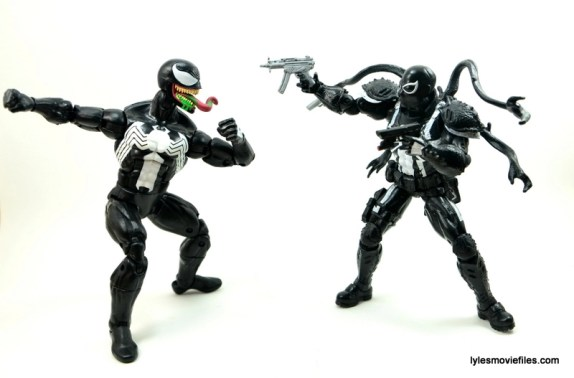 Marvel Legends Venom figure review - vs Agent Venom