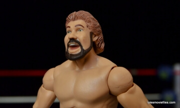 Mattel Ted DiBiase Hall of Fame figure review - closeup
