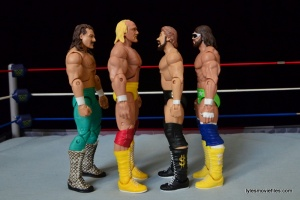 Mattel Ted DiBiase Hall of Fame figure review - scale with Jake the Snake, Hulk Hogan and Macho Man
