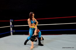 WWE Bayley figure review - armbar Paige