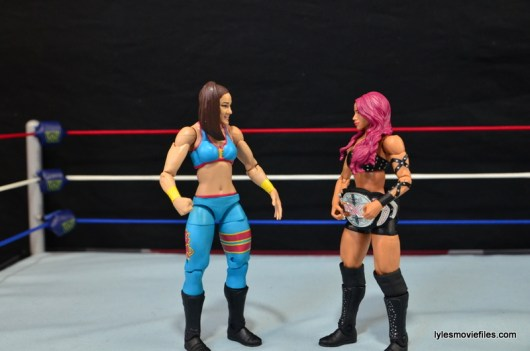 WWE Bayley figure review - face off with Sasha Banks