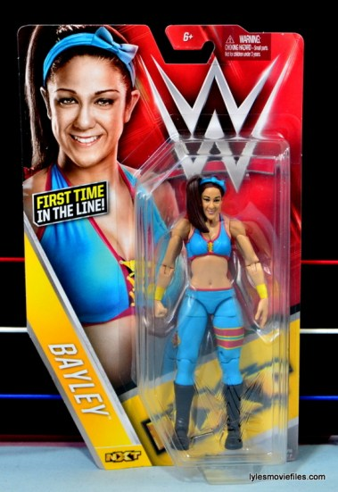 WWE Bayley figure review - front package