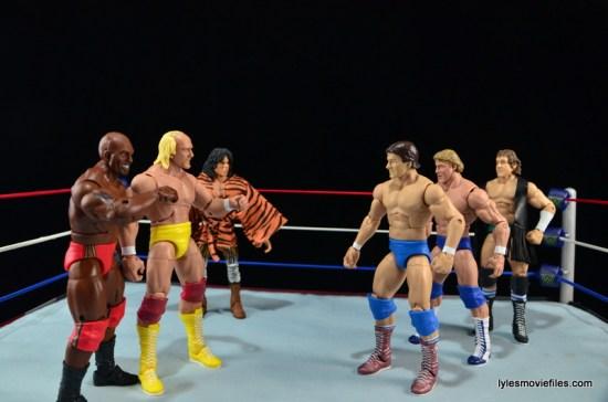 Wrestlemania 1 - Mr. T, Hulk Hogan, Jimmy Snuka vs Roddy Piper, Paul Orndorff and Bob Orton