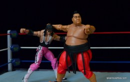 Wrestlemania 10 -Yokozuna whips Bret Hart to corner