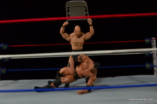 Wrestlemania 17 - The Rock vs Stone Cold - Austin attacks with steel chair
