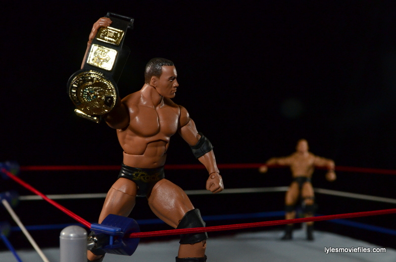 Wrestlemania 17 - The Rock vs Stone Cold - Rock posing