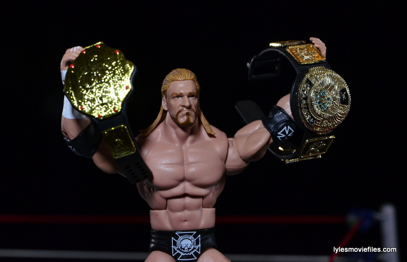 Wrestlemania 18 - Triple H with both titles