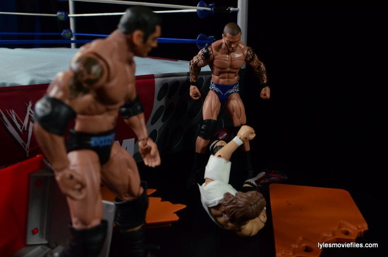Wrestlemania 30 - Daniel Bryan vs Randy Orton vs Batista - Orton and Batista over Bryan