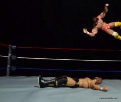 Wrestlemania 4 - Macho Man nails flying elbow on DiBiase
