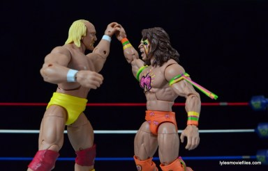 Wrestlemania 6 - Hulk Hogan vs The Ultimate Warrior - Hogan and Warrior lock up