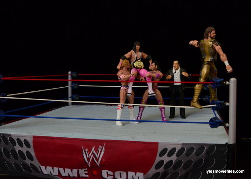 Wrestlemania 9 -Lex Luger, Razor Ramon, Gorilla Monsoon and Macho Man celebrate Bret Hart