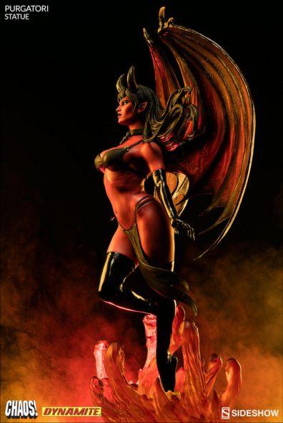 purgatori-statue-dynamite-feature - in flames