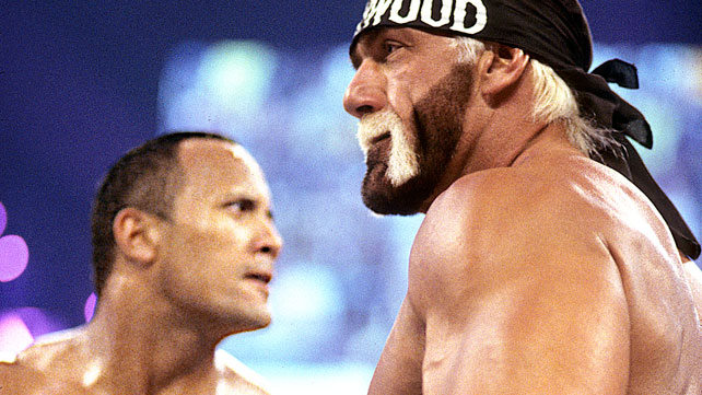 wrestlemania 18 image The Rock vs Hollywood Hogan