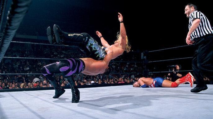 wrestlemania 2000 - benoit vs jericho vs angle