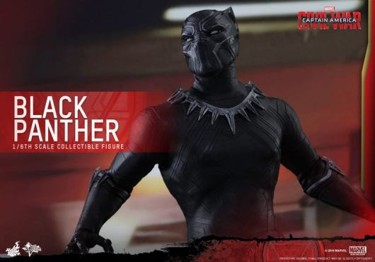 Hot Toys Black Panther figure - looking up