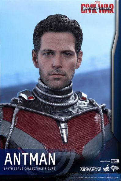 Hot Toys Civil War Ant-Man figure -unmasked