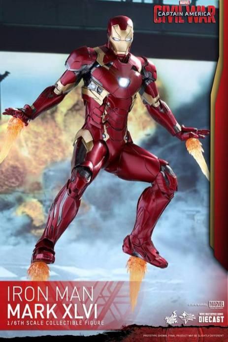 Hot Toys Civil War Iron Man -flying off