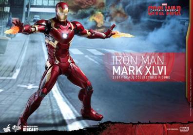 Hot Toys Civil War Iron Man -shooting repulsors