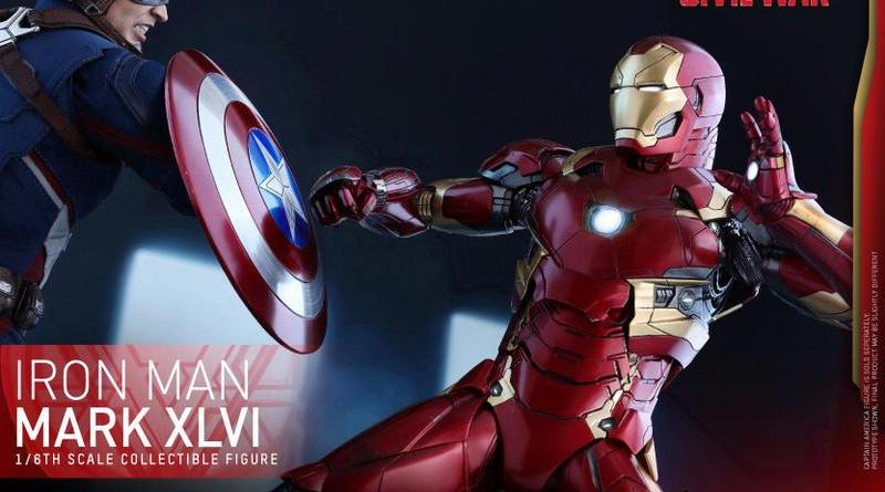 Hot Toys Civil War Iron Man -up close fighting Captain America