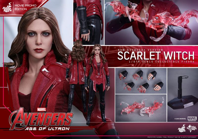Hot Toys New Avengers Scarlet Witch - collage