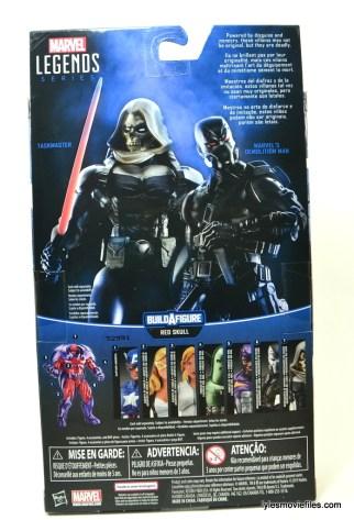 Marvel Legends Taskmaster figure -back package