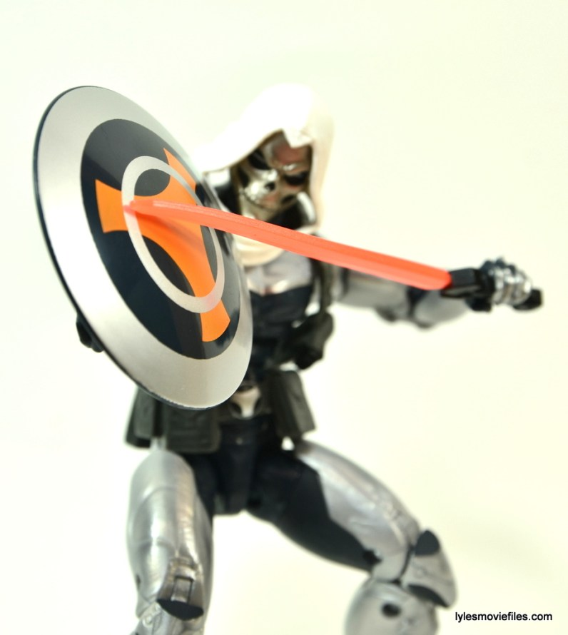 Marvel Legends Taskmaster figure -shield and sword detail
