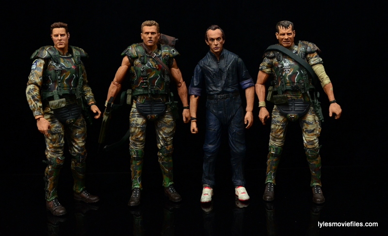 NECA Aliens Bishop -with Windrix, Hicks and Hudson