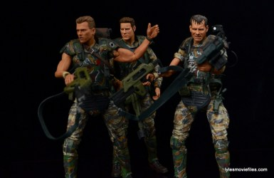 NECA Aliens Sgt Craig Windrix figure -on patrol with Hicks and Hudson