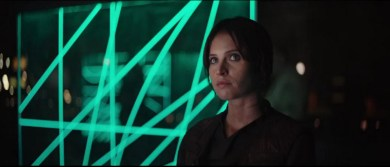 ROGUE ONE A STAR WARS STORY - Jyn Erso at Rebel base