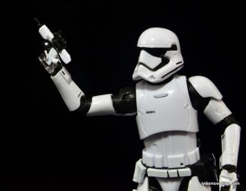 Star Wars The Force Awakens - The Black Series Stormtrooper review - holding pistol-min