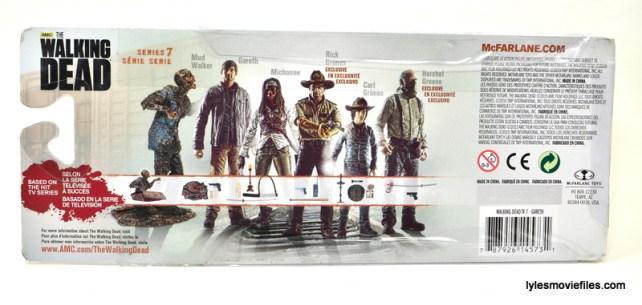 The Walking Dead Gareth figure review -rear package