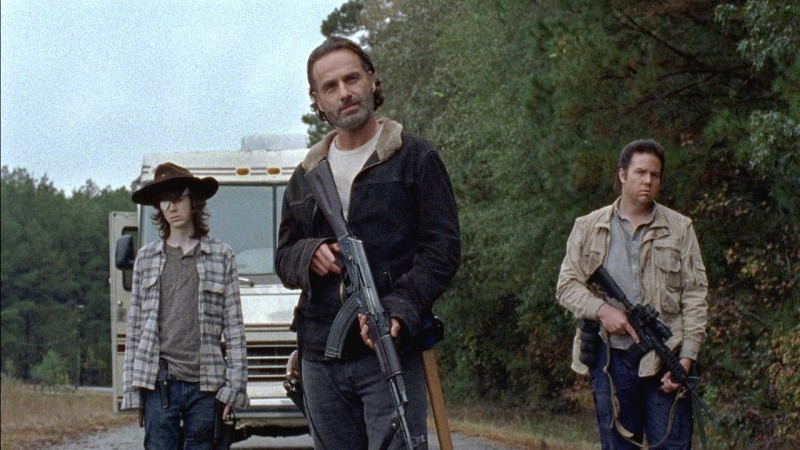 The Walking Dead - Last Day on Earth review - Carl, Rick and Eugene