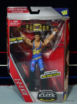 WWE 123 Kid figure review - front package