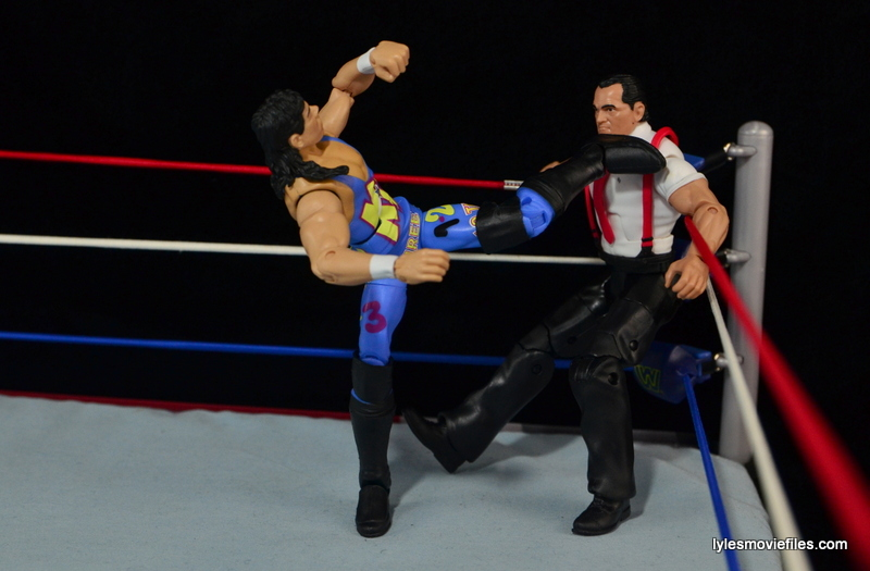 WWE 123 Kid figure review - kicking IRS