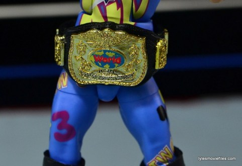 WWE 123 Kid figure review - title belt closeup