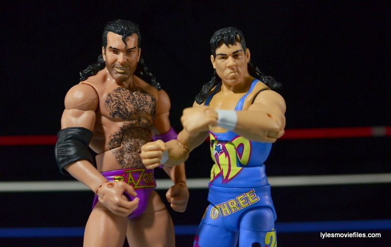WWE 123 Kid figure review - with Razor Ramon