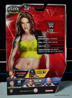 WWE Elite 41 Lita figure -rear package
