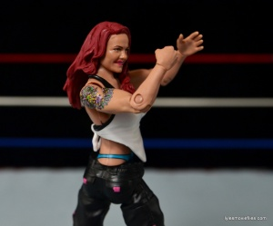 WWE Elite 41 Lita figure -white shirt back