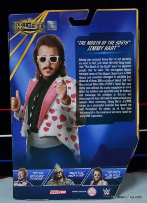 WWE Hall of Fame Jimmy Hart figure -rear package-min