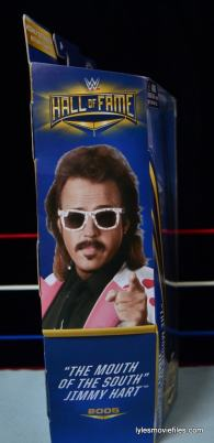 WWE Hall of Fame Jimmy Hart figure -side package-min